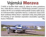 News from AeroHobby 3/2009 magazine about L-200 Morava aircraft designated for Museum of Military History Piestany